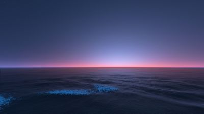 Horizon, Seascape, Sunset, Dusk, Ocean