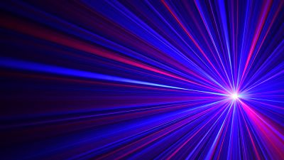 Spinning Laser, Pattern, Blue rays, Vibrant, Glowing lines