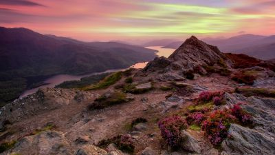 View Point, Loch Katrine, Scotland, Sunset, Landscape, Dusk, 5K