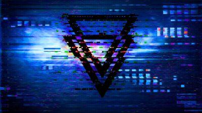 Glitch art, Triangles, Effect, Distortion, Digital Art