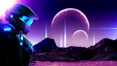 Planets, Halo, Exosuit, Robotic, Spacescape, Future, Fantasy, Master Chief