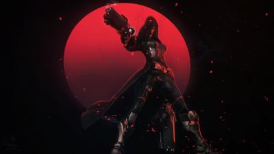 Reaper, Overwatch, Dark background, Red