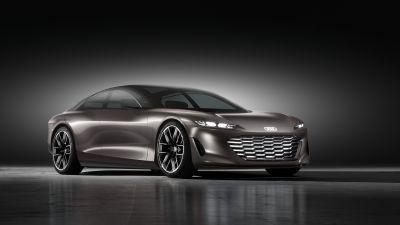 Audi grandsphere concept, Electric cars, Concept cars, 2021, Dark background, 5K