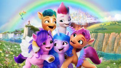 My Little Pony: A New Generation, 2021 Movies, Sunny Starscout, Izzy Moonbow, Pipp Petals, Zipp Storm, Animation, Adventure, Comedy