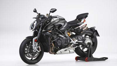 MV Agusta Brutale 1000RS, Sports bikes, 2021, White background, 5K