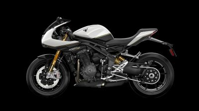 Triumph Speed Triple 1200RS, 2021, Black background, Sports bikes, 5K, 8K