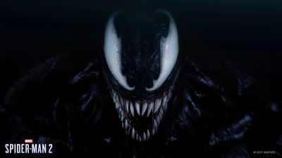 Venom, Marvel's Spider-Man 2, 2023 Games, PlayStation 5, Marvel Superheroes, Marvel Comics, Dark background