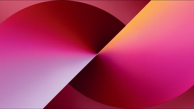 iPhone 13, Stock, iOS 15, Gradient background, iPhone 13 Pro Max, iPhone 13, Red background
