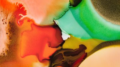 Mi Pad 5 Pro, Colorful background, Liquid art, Macro, Stock