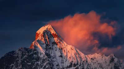 Mount Siguniang, Mi Pad 5 Pro, Qionglai Mountains, Sunrise, Morning, Peak, Stock
