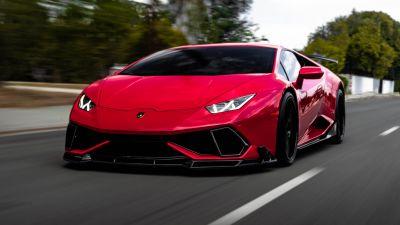 Lamborghini Huracan, Red cars, 5K