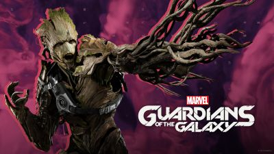 Marvel's Guardians of the Galaxy, Groot, 2021 Games, PC Games, PlayStation 4, PlayStation 5, Xbox One, Nintendo Switch, Xbox Series X and Series S