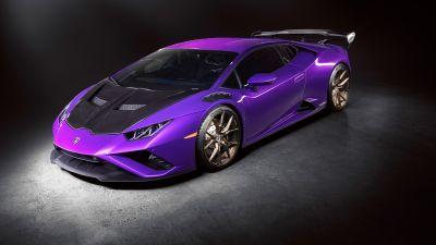 Lamborghini Huracan EVO, Dark background, 5K, 8K