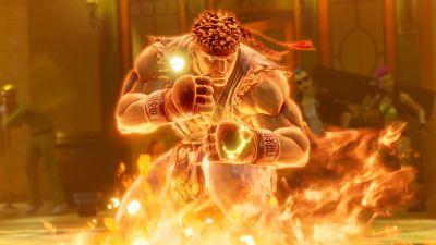 Ryu, Street Fighter, Fire, 5K
