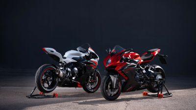 MV Agusta F3 RR, Sports bikes, Dark background, 2022, 5K, 8K