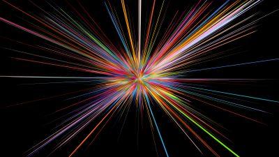 Explosion, Stellar, Colorful, Render, Black background, Fireworks, CGI