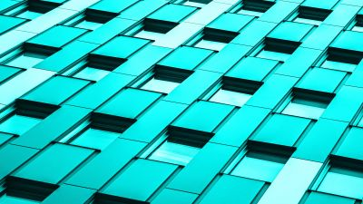 Modern architecture, Office building, Glass building, Teal, Turquoise