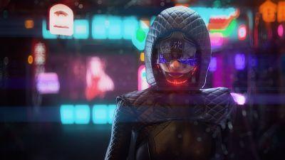 Cyberpunk girl, Future tech, Futuristic, Dope