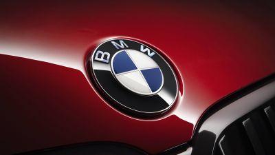BMW logo, BMW 7 Series, 5K