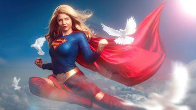 Supergirl, Marvel Superheroes, Marvel Comics, 5K, 8K