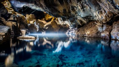 Grjótagjá, Lava Cave, Iceland, Hot Spring, Natural Phenomena, Famous Place, Tourist attraction, 5K
