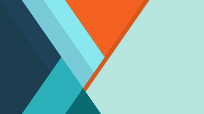 Material Design, Minimalist, Orange, Stripes, Blue, Flat