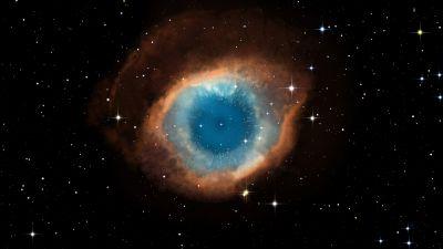 Helix Nebula, Dark background, Constellation, Galaxy, Astronomy, Stars, Eye Illustration, Cosmos, 5K, 8K