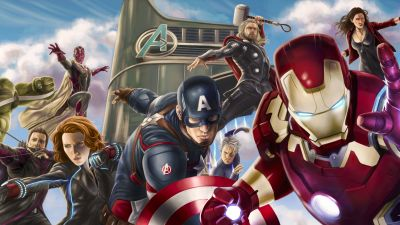 Avengers, Digital Art, Captain America, Black Widow, Iron Man, Marvel Comics, Hulk, Thor, Hawkeye, Quicksilver, Vision, Age of Ultron, 5K, 8K