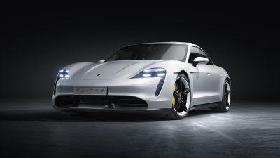 Porsche Taycan Turbo S, Sports cars, 5K