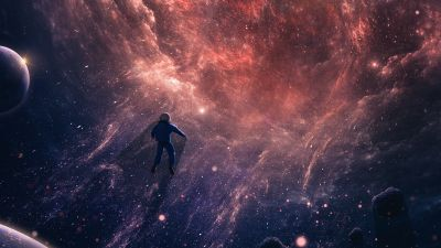 Astronaut, Black hole, Deep space, Universe, Cosmos, Surreal, Outer space