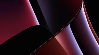 Apple MacBook Pro, Stock, 2021, Apple Event 2021, Dark Mode, Black background, Red, 5K