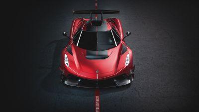 Koenigsegg Jesko, Sports cars, 2020, 5K, 8K, Dark background
