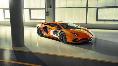 Lamborghini Aventador S, Skyler Grey, Custom tuning, 5K, 8K