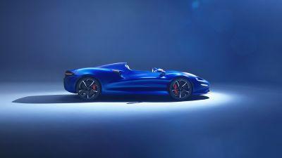 McLaren Elva, Sports cars, Blue, 5K, 8K