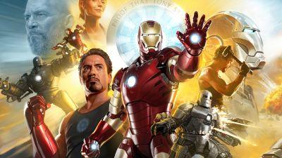 Iron Man, Tribute, Marvel Comics, Marvel Superheroes, 5K, 8K
