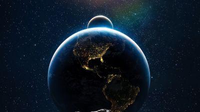 Earth, Moon, Sun, Solar system, Asteroids