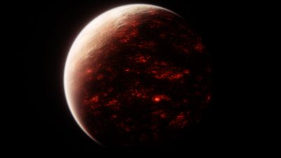 Red planet, Burning, Space exploration, Dark background