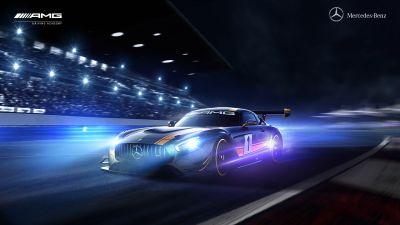 Mercedes-AMG GT R, Night, Racing track