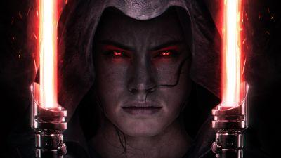 Star Wars: The Rise of Skywalker, Rey, Daisy Ridley, Lightsaber
