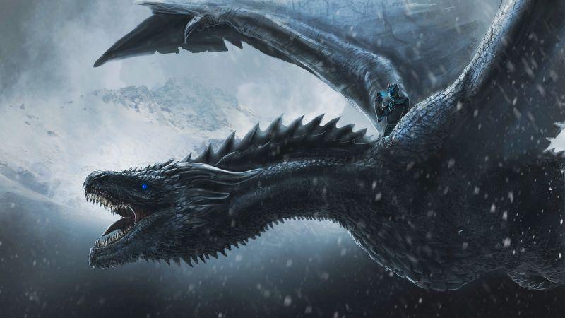 Night King, Dragon, Game of Thrones, Concept Art, Wallpaper