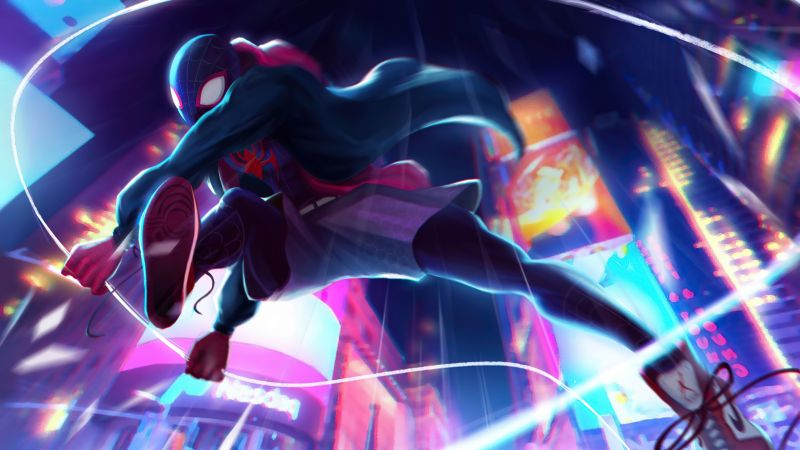 Miles Morales, Spider-Man: Into the Spider-Verse, Spider-Man, Wallpaper