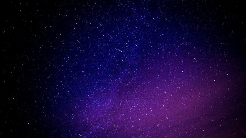 Starry sky, Purple sky, Astronomical, Stars, 5K, Wallpaper