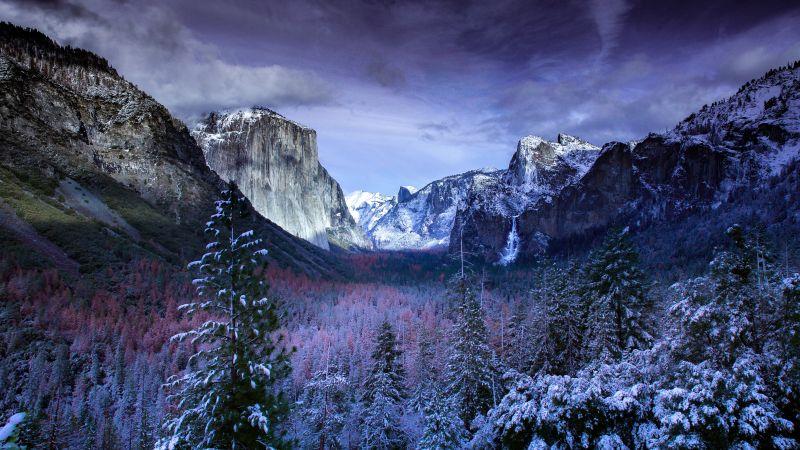 Yosemite Tunnel, Yosemite National Park, Yosemite Valley, Landscape, Tuolumne Meadows, California, USA, 5K, Wallpaper