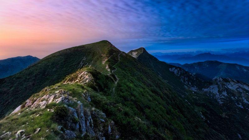 Monte Tamaro, Mountains, Morning, Peak, Landscape, Switzerland, 5K, 8K, Wallpaper