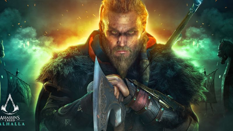 Assassin's Creed Valhalla, Eivor, Viking raider, PC Games, PlayStation 4, PlayStation 5, Xbox One, Xbox Series X, 2020 Games, Wallpaper