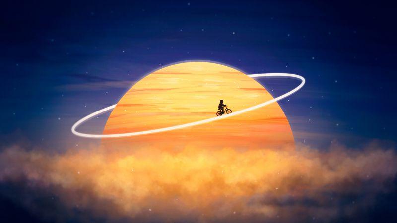 Travel, Explorer, Kid, Planet, Surreal, Dream, Wallpaper