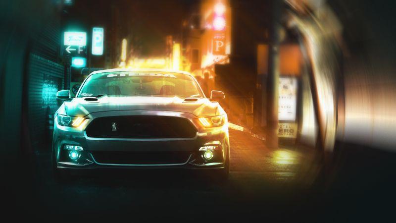 Ford Mustang, CGI, Wallpaper