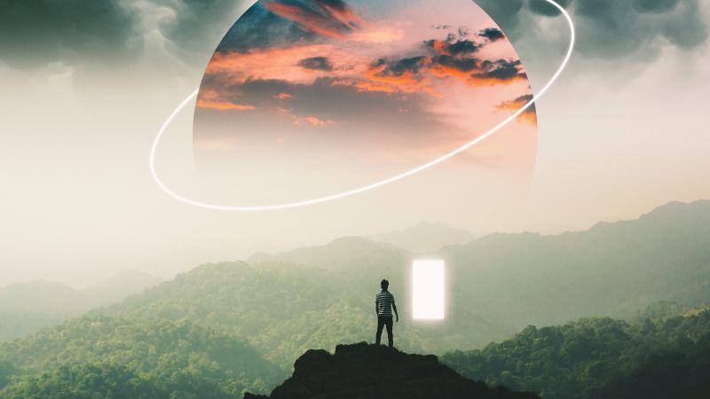 Alone, Surreal, Planet, Landscape, Dream, Wallpaper