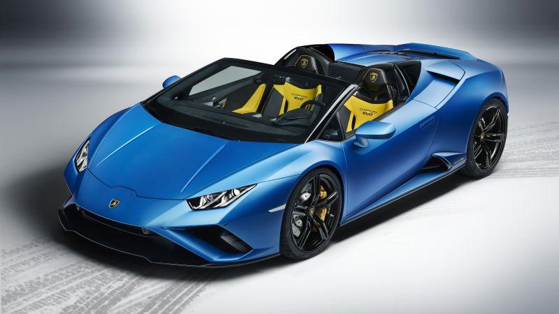 Lamborghini Huracan EVO RWD Spyder, 2020, 5K, Wallpaper
