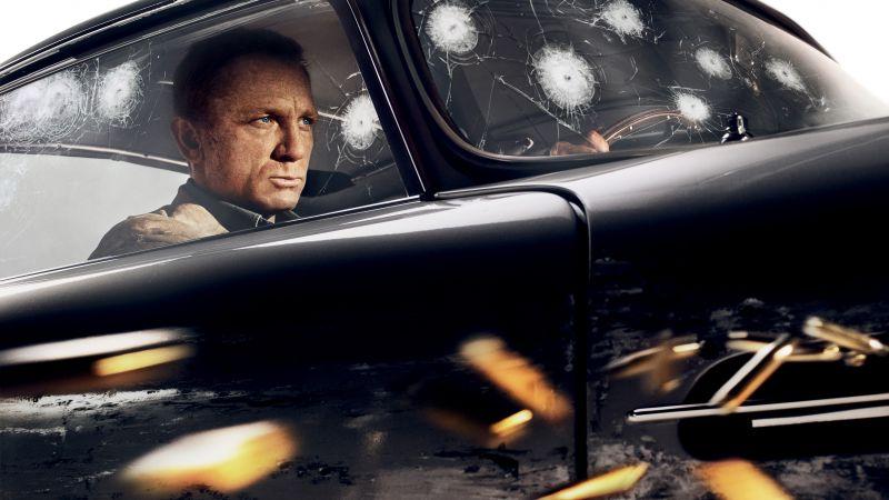 No Time to Die, Daniel Craig, 2020 Movies, 5K, 8K, Wallpaper
